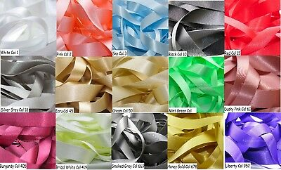 BULK REELS - Berisfords Double Faced Satin Ribbon - Choice of Colour and Width