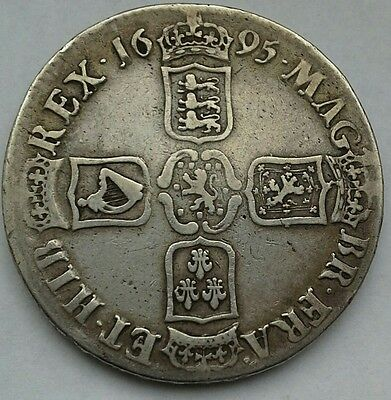 1695 William Iii Silver Crown