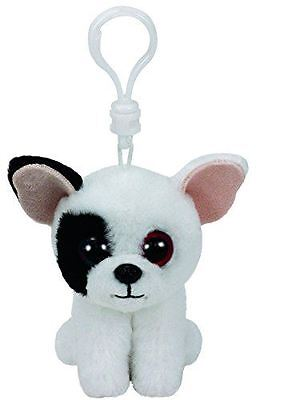 "TY Beanie Babies Key Clip 3"" Marcel The Dog - Plush Key ring"