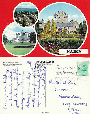 1983 Multi Views Around Nairn Nairnshire Scotland Colour Postcard
