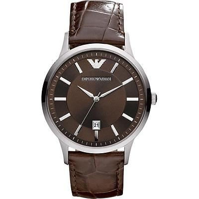 ** NEW **Emporio Armani® watch AR2413 - Mens , CLASSIC , Brown , Leather strap