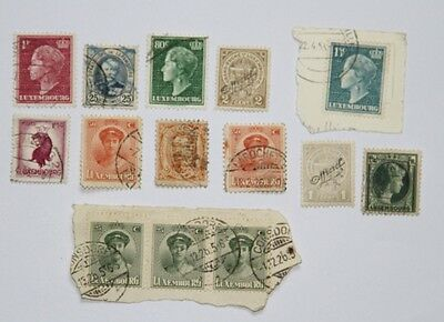 LUXEMBOURG LOT DE TIMBRES OBLITERES & NEUF (mint mnh) SURCHARGE - CONSDORF
