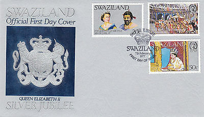 Swaziland 1977 Silver Jubilee Official First Day Cover Shs