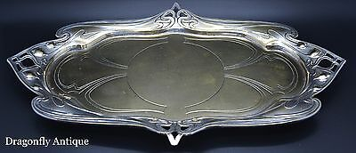 SUPERB Antique Art Nouveau WMF Silver Plated on Brass Tray Liberty Style