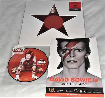 "David Bowie Japanese Singles Lady Stardus Picture Disc & Blackstar 12"" Red Vinyl"