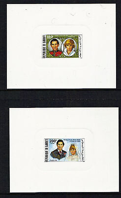 Djibouti 1981 Royal Wedding Pair Of Imperforate Scarce Die Proofs Mnh