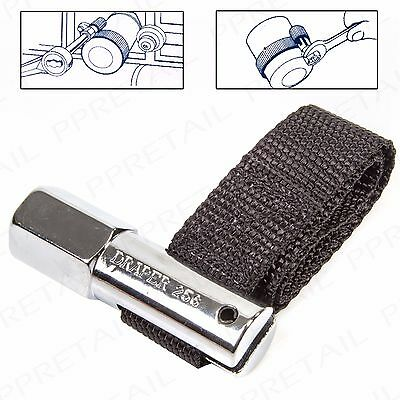 """1/2"""" SQ DRIVE OIL FILTER REMOVER STRAP Adjustable Up To 120mm Chain Wrench Tool"""
