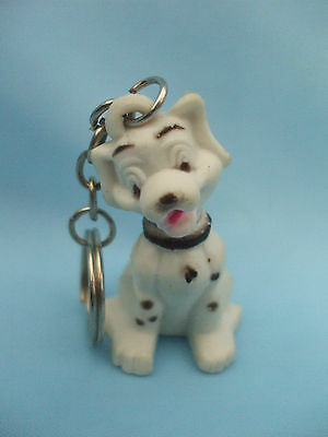 Collectable Dalmatian Dog Ornament Sitting With Keyring Attached