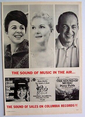 THE SOUND OF MUSIC 1965 Poster Ad PERCY FAITH EYDIE GORME MARY MARTIN