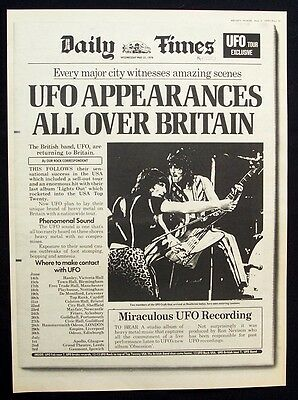 UFO 1978 Poster Ad UK CONCERT TOUR obsession