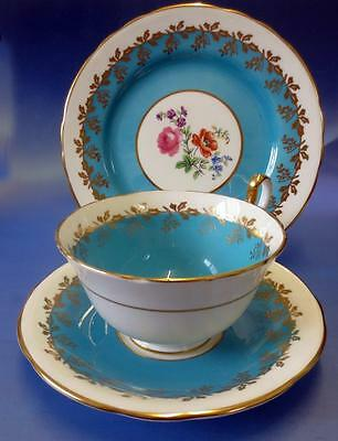 Vintage Aynsley Porcelain Cup Saucer & Plate Trio Hand Painted