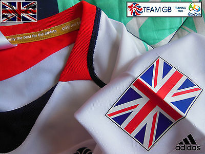 Adidas Team Gb Issue -Training For Rio In 2016 - Athlete Event Tee Shirt