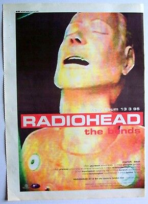 RADIOHEAD 1995 Poster Ad THE BENDS