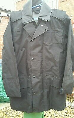 MOD/police/government issue  black waterproof jacket/ liner, gortex 38 chest