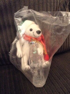 """Coca Cola Plush Christmas Ornament by Cavanagh - New from 1999 SEALED 5"""""""