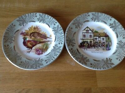 "Two H Grindley & Co Decorative 7"" Plates"