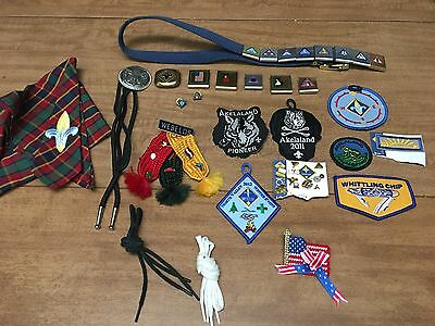 Lot Of Cub Scout Pins Patches Belt Loops Arrow Of Light Weblos Neckerchief Bolo