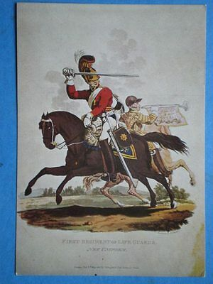Postcard 1St Life Guards 1815  - Water Colour