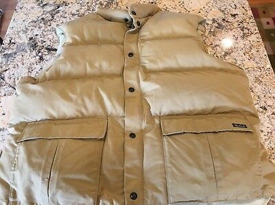 Woolrich Men's Down Puffer Vest Tan Size XL