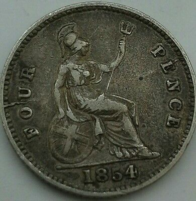 1854 Queen Victoria Maundy Fourpence.
