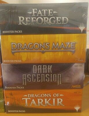 Mtg English Booster  Box Factory Sealed 4 Box Collection