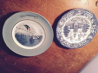 Wedgwood   2) 1976 Plates  You Will Receive  Both.