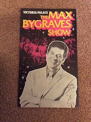 The Max Bygraves Show Programme