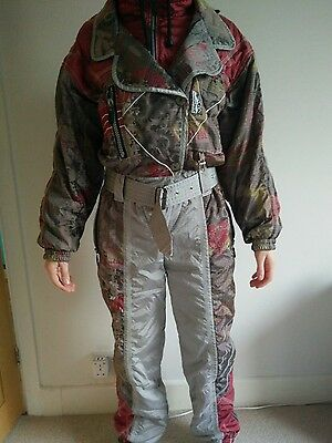 retro ski onesie vintage snow suit for boarders skiers and cool kids