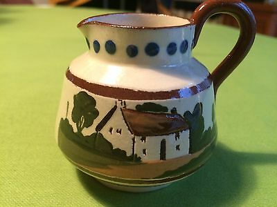 Torquay Watcombe Pottery Vintage milk cream Jug Mottoware Fresh from the Dairy