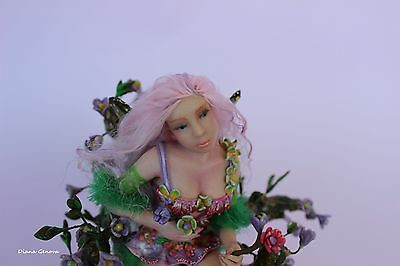Fairy Maia,1:12 scale, OOAK doll, polymer clay sculpture,by Diana Genova