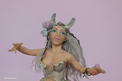 Fairy Capricorn, collection Zodiac,1:12,OOAK doll,polymer clay,by Diana Genova