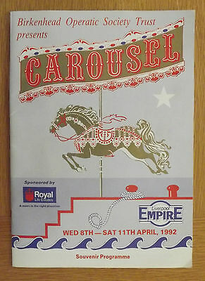 Carousel Official Theatre Programme Liverpool Empire 1992