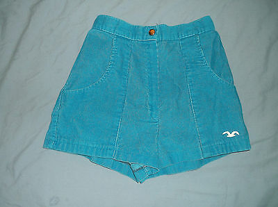 VTG 80's Junior Women's corduroy beach shorts Blue sz. 11 girls surf beach OP