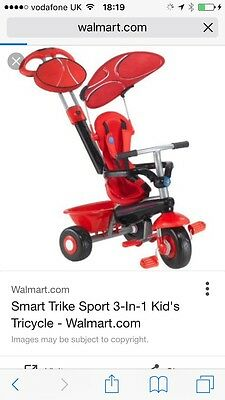Red Smart Hooded Trike For Baby/ Toddler