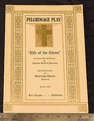 Vintage 1928 PILGRIMAGE PLAY Souvenir Program GEORGE EASTMAN - FREE SHIPPING