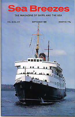 Sea Breezes Sept 1980 Motorship Under Sail, Sealink For Sale, Ships From The Pas