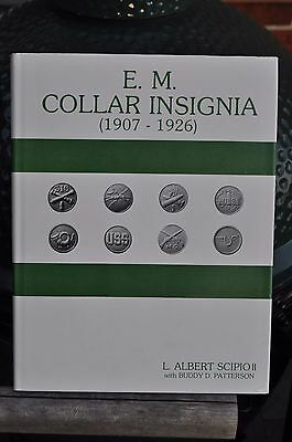 BOOK:EM COLLAR INSIGNIA 1907-1926: FIRST EDITION-excellent with Dust Jacket