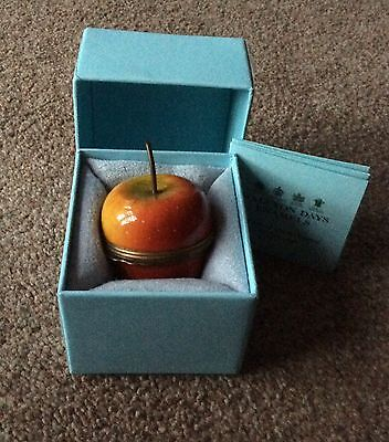 Halcyon Days Enamel Apple BNIB