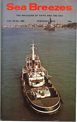 """Sea Breezes Feb 1979 Containers To The Mediterranean, Farewell """"Normannia"""""""