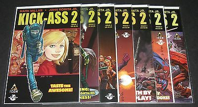 Kick-Ass 2 (1-7) Complete set (2010-2012, Icon) 1st Print Millar Romita Jr.
