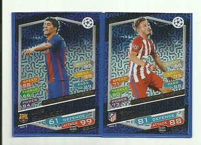 Topps Match Attax Champions League 2016/2017 2x Man of the Match Cards NEW....