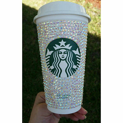 Starbucks Bling Cup Personalized with YOUR name sparkly travel coffee mug w/ lid