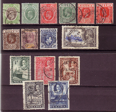 Nigeria Pre-52 Selection Of Stamps.......