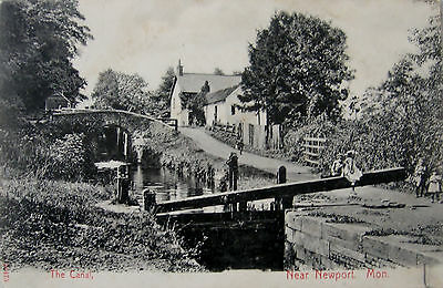 Early 1905 Prunted Postcard, The Canal, near Newport, Mon.