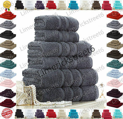 100% Cotton Towels Set Bath Sheet Hand Large Bale 600 GSM Bathroom & 6 Piece Set