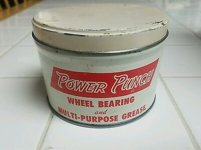 Buy It Now! Vtg. Power Pun Wheel Bearing Grease Lubricant Advertising Oil Can