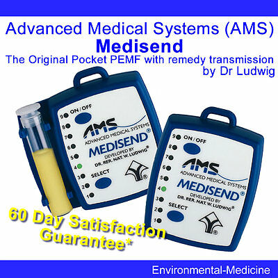 Original MEDISEND pocket pulsed magnetic field support PEMF by Dr Ludwig AMS
