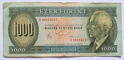 HUNGARY: 1000 Forint banknote in VG Condition since 1983.