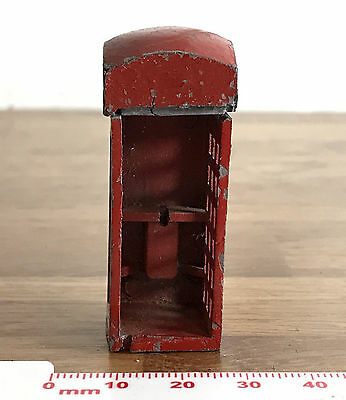 Vintage PARTIAL Lead Metal Old Style English Telephine Box Model SPARES REPAIRS
