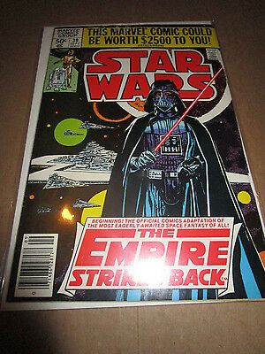 Marvel Star Wars #39 The Empire Strikes Back-Darth Vader Cover--Bagged & Boarded